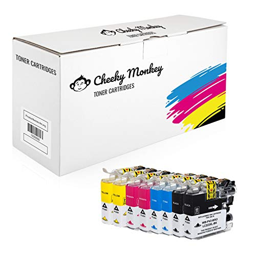 Cheeky Monkey Multipack 10x Tintenpatronen kompatibel mit Brother LC-223BK LC-223C LC-223M LC-223Y MIT CHIP
