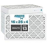 Aerostar Home Max - Filtro de aire plisado MERV 13 de 40 x 60 x 10 cm, fabricado en los Es...
