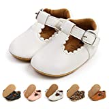Infant Baby Girl Shoes Mary Jane Flats Dress Shoes Soft Anti-Slip Rubber Sole Walking Shoes Toddler Crib First Walker Shoes