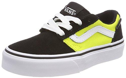 Vans Unisex-Kinder Chapman Stripe Sneaker, Schwarz (Suede/Canvas), 33 EU