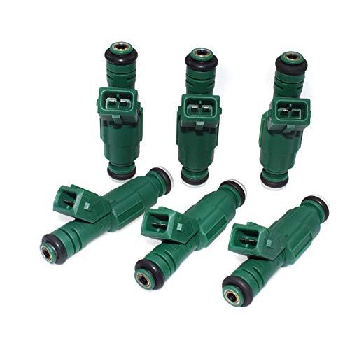 eGang Auto Nouveau 6 pièces injecteur de Carburant adapté au débit 0280155968 pour Fords Audis VWS