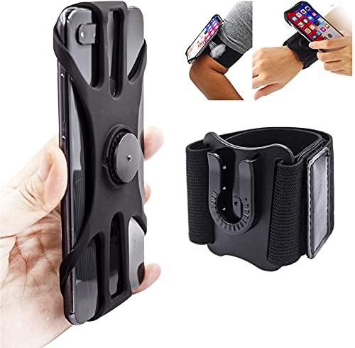 Brazalete desmontable para correr 360 ° rotación del teléfono celular titular brazo banda muñeca banda para ciclismo Pesca caminar