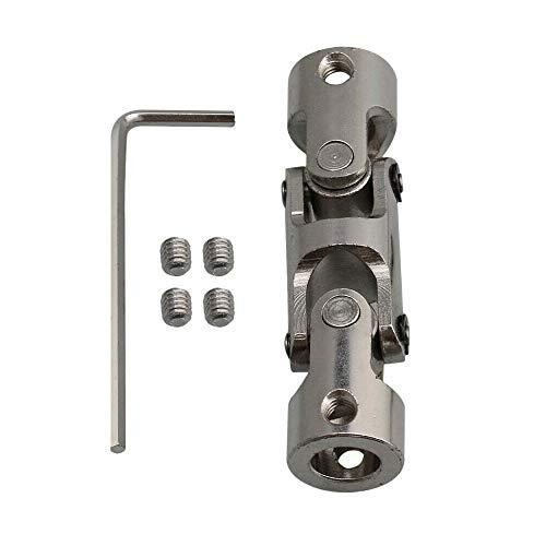SENRISE Universal-Gelenkkupplung, 4-10 mm, U-Gelenk, 3-fach Lenkwelle, für Boot, Auto, Ersatzteile, Zubehör DIY, silber