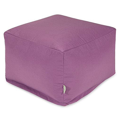 Majestic Home Goods Ottoman, Lavender, Large