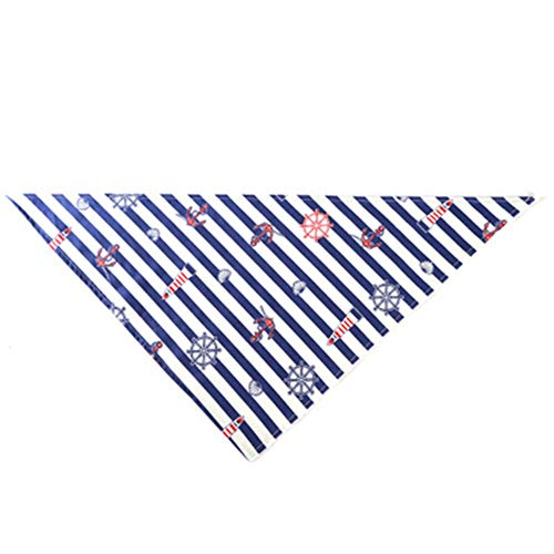 Hey shop The legend of the new navy sail boat anchor sailing blue sea pet saliva towel dog triangle towel pet supplies