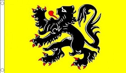 Bélgica Flandes León 5'x3' (150cm x 90cm) bandera por 1000banderas