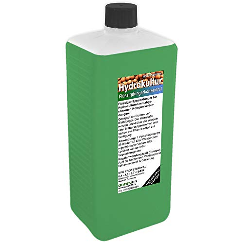 GREEN24 Hydrokultur Dünger XL 1 Liter Hydroponic düngen Flüssigdünger NPK