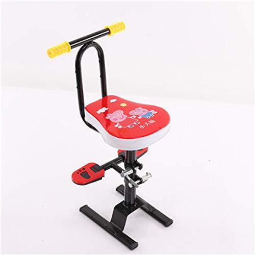 Wanjia Elektromotorrad Kindersitz vorne, Höhenverstellung Hocker Roller Babysicherheitssitz mit Armlehne für Kinder von 1-7 Jahren Kann getragen, C