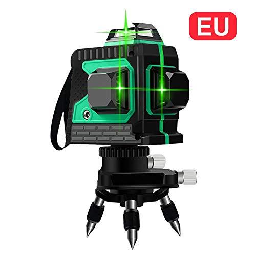 Cross Line Laser 3D 12 Ligne de laser 3x360 Traverse horizontale et verticale Ligne de faisceau...