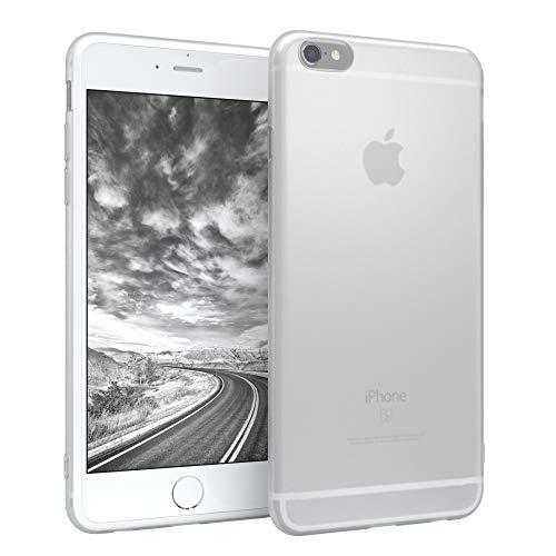 EAZY CASE Hülle kompatibel mit Apple iPhone 6 / iPhone 6 S Schutzhülle Silikon, matt & Ultra dünn, Slimcover, Handyhülle, Hülle/Soft Case, Silikonhülle, Backcover, Transparent