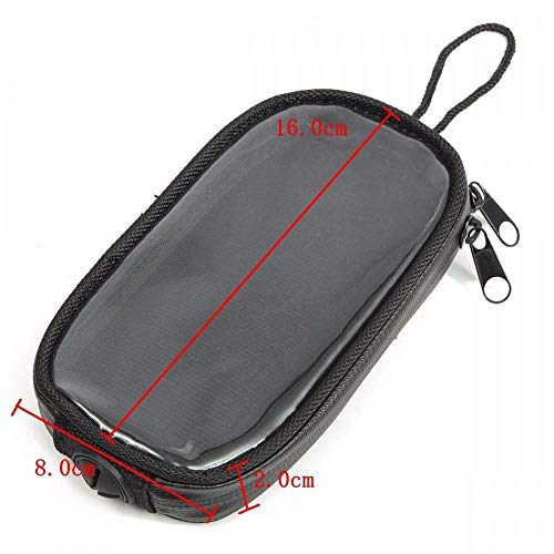 Best Review Of 16x8x2cm Motorcycle Oil Fuel Tank Bag Magnetic Navigation Bags for Smart Phone Univer...