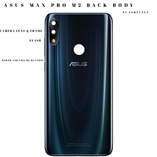 PS FORTUNET Genuine Back Battery Door Back Rear Housing with All Buttons, Camera Lens and Logo for Asus Zenfone Max Pro (M2) ZB631KL (Blue)