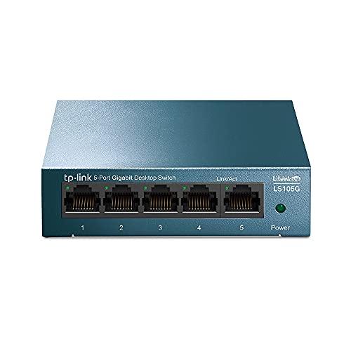TP-Link LS105G Switch Ethernet 5 Porte Gigabit, Sdoppiatore Ethernet, Struttura in Metallo, Ideale per la casa e il piccolo ufficio