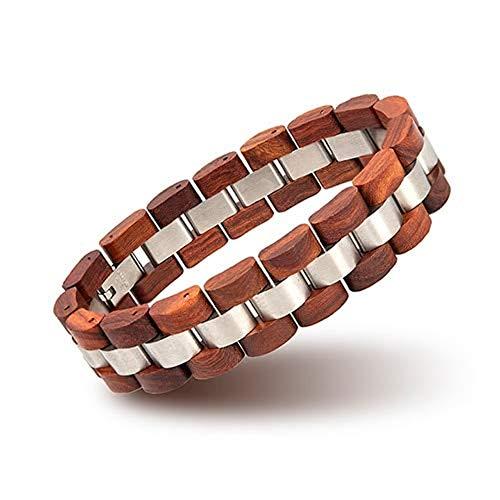 AUTULV Holzarmband Männer Und Frauen Armband Herrenarmband Holz ArmbandMänner Frauen Holz Armreif Armband Schmuck Geschenk