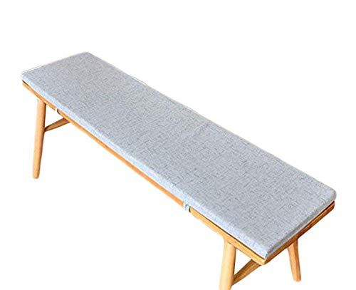 AISHANG Bench Cushion Pad Mat Garden Swing Pad Outdoor Long Chair Mat Thick Shoe Rack Cushion Indoor Dining Pad for 2 3 Seaters (Grey,30x120x5cm)