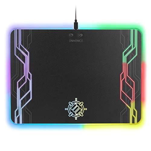 ENHANCE Alfombrilla gaming tela XL LED RGB Superficie