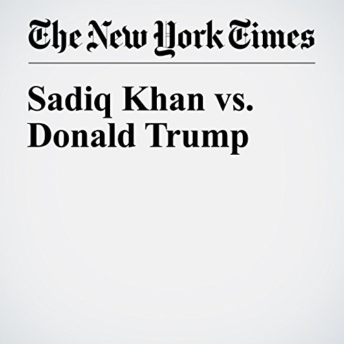 Sadiq Khan vs. Donald Trump audiobook cover art