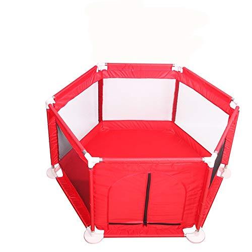 Barrières de lit LHA Baby Child Safety Clôture de Jeu intérieure Clôture de Protection pour bébé (Couleur : Red)
