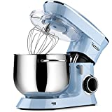 Vezzio Stand Mixer, 9.5 Qt 660W, 6-Speed Tilt-Head Food Dough Mixer, Kitchen Electric Mixer with Stainless Steel Bowl,Dough Hook,Whisk, Beater, Egg white separator (Blue)¡