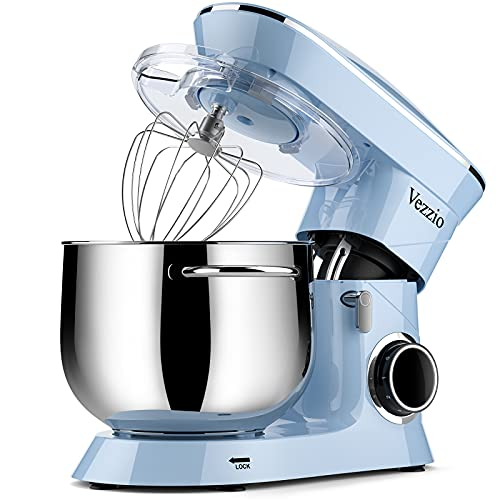 Impastatrice Vezzio Impastatrice Planetaria Impastatrice Elettrico 1500W 8.5 Litri Robot da Cucina...