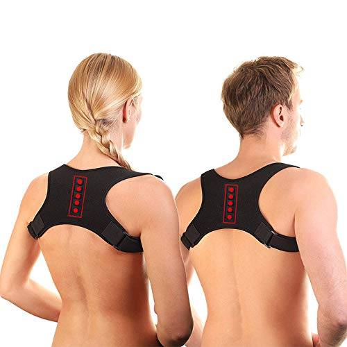 Lianth Magnetic Therapy Back Brace Posture Corrector for Men and Women Under Clothes Back Pain Relife Shoulder Support Belt Easy Teenagers Corrective M