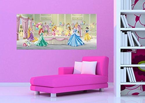 AG Design FTDh 0646 Prinzessinen Disney Princess, Papier Fototapete Kinderzimmer - 202x90 cm - 1 Teil, Papier, multicolor, 0,1 x 202 x 90 cm