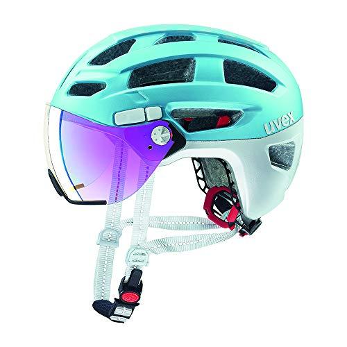 Uvex Casco de Bicicleta de Trekking Finale Visor City Azul 2019, 56-61 cm