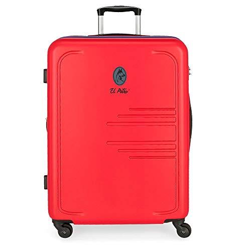 El Potro Batran Maleta grande Rojo 56x79x33 cms Rígida ABS 125L 4,6Kgs 4 Ruedas Extensible