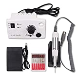 YJF 35000RPM White Nail Equipment Manicure Pedicure Tools Electric Nail Art Drill Pen Machine Set para Nail Art