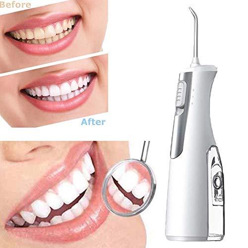 DBSCD Schnurloser Wasserflosser für Zähne Tragbarer Munddusche aus Elektrofloss IPX7 Wasserdicht 2 Modi für Reise und Heimgebrauch für Zähne, Zahnspangen, Brücken
