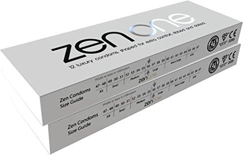 Zen One Kondome - 12 Luxus-Rippen- und gepunktete mit extra Schmierung