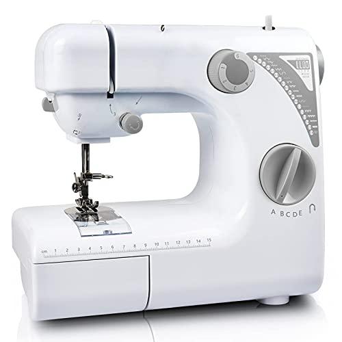 Máquina de coser portátil, mini máquina de coser artesanal eléctrica, 19 modos, 2 velocidades, con pedal, perfecta para coser para principiantes o niños