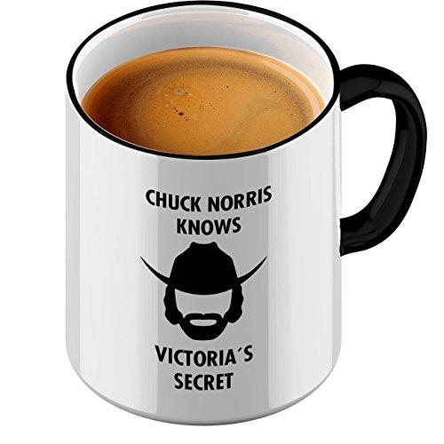 Fun tasstic Taza Chuck Norris Victorias Secret–Café Pott Café Taza by StyloTex