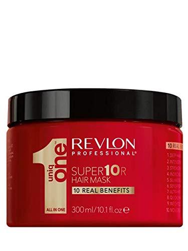 REVLON PROFESSIONAL Uniqone Super Masque pour Cheveux Secs/Très Secs/Abimés 10 Bienfaits Super10R Mask, 300ml