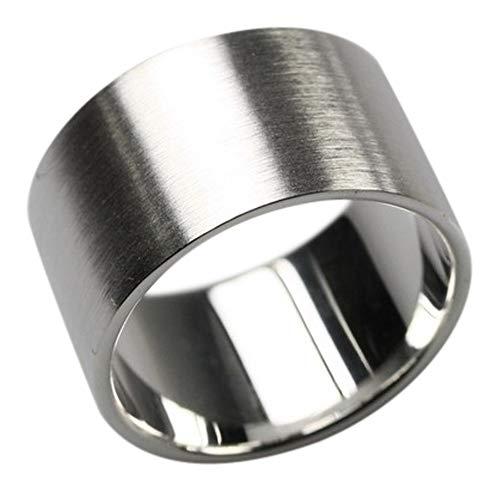 Bildschöner 12 mm breiter mattierter 925er Silberring, Größe:Größe 58 (18.5) mm