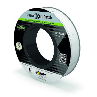 Isover Vario Xtra Patch 20 x 60 mm 208 Stück/Rolle für innen und außen selbstklebende Klettstreifen für die