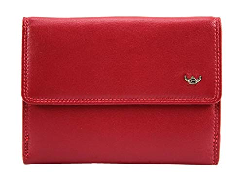Golden Head Ladies Purse Wallet Polo Red