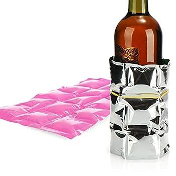 COM-FOUR® 6x flexible ice pack - compresse de refroidissement avec 15 cellules de refroidissement - pack de refroidissement pour la maison, le sport et les loisirs (06 pièces - 25 x 15cm - 3 couleurs)