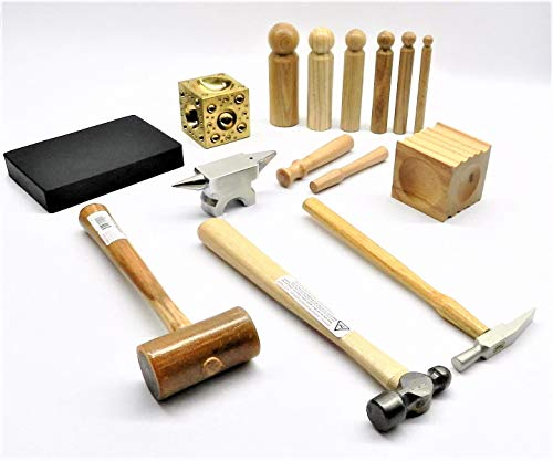 Metalsmith Tool KIT Basic Blocks Hammers Metal Smithing Jewelry Making Tools Set (LZ 7.5 R Box A)...
