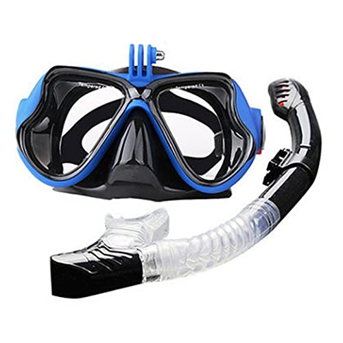 LCBYOG Gafas de Alta definición de Buceo SANBAO Cara Espejo HD Mascarilla Adult Anti-Niebla Nariz Respiración de natación Equipo de Buceo Gafas De NatacióN (Color : B)