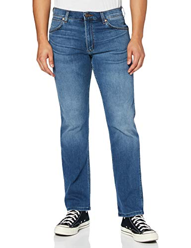 Wrangler Greensboro Straight Leg, Jeans Uomo, Blu (Mid Blue), W33/L34