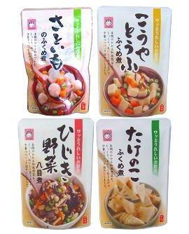 和風惣菜少量パック 4品シリーズ(高野豆腐、里芋、竹の子、ひじき野菜)