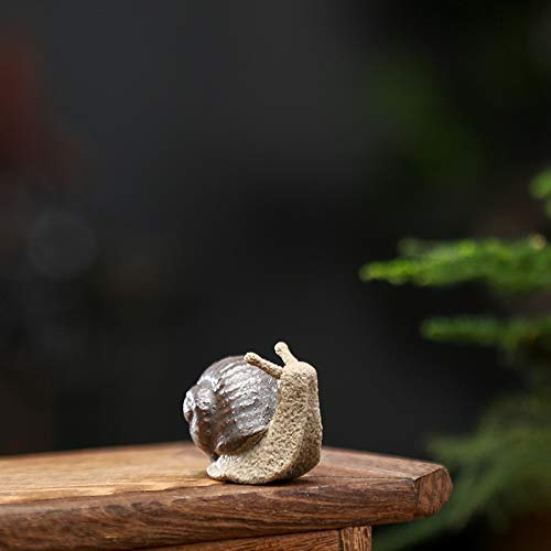 Keramik kleine Schneckenverzierungen Bonsai Micro Landschaft Dekoration Zubehör für Wohnzimmer Tee Haustiere (Color : B Small)