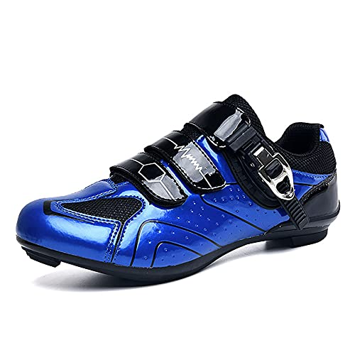 FGFDS MTB/Zapatillas De Ciclismo De Carretera, Zapatillas De Montaña para Hombre Y Mujer con SPD-SL Y Look Delta Cleat Compatible con Peloton Indoor Outdoor Sports Bicycle Lock Pedal Spin