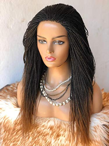 Vuzi Wigs Factory - Braided Wigs, Micro Twists, Hand Braided Wigs, 22 inches, 2x4, Synthetic Hand Braided Wigs, Micro Million twist, Ombre 2/30