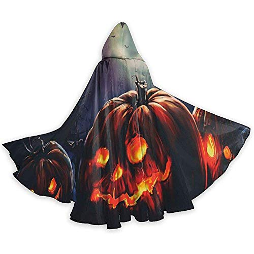 Zome Lag Halloween Cape Fantasie capuchon met trekkoord volwassenen cool witch jurk extra lang party omhang zwart
