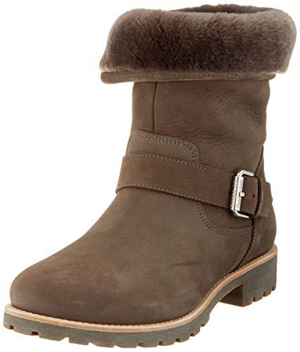 Panama Jack Damen Winterstiefel Singapur Igloo,Frauen Winter-Boots,Fellboots,Lammfellstiefel,Fellstiefel,gefüttert,warm,Grau,EU 39