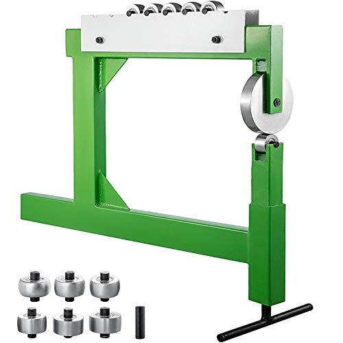 OldFe Rollenstreckmaschine, English Wheel, Glätthammer F560, grün, Gehärteter Stahl, Englisch Wheel Shaping Benchtop, für Flussstahl, Aluminium und Kupfer, für Formen, Herstellen und Glätten.