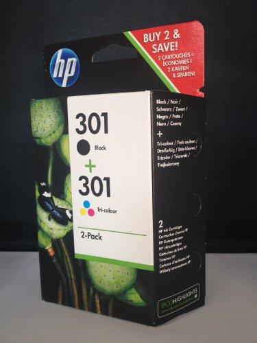 2 Cartouches d'encre originales pour HP Envy 4500 Cartouches d'encre (Noir/Couleur)