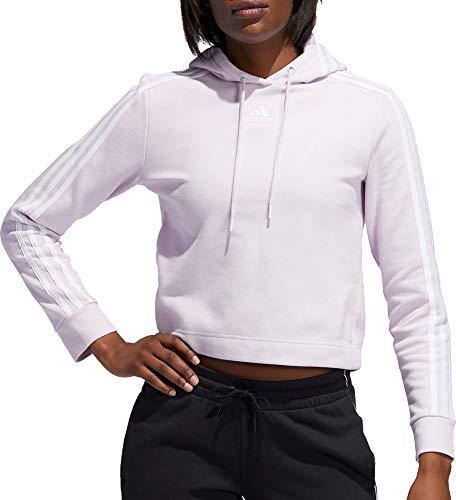adidas Post Game - Sudadera con capucha para mujer (talla X), color rosa